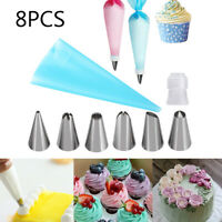 & Kitchen Cupcake Pastry Bag Baking Mold Icing Piping Nozzles Ice Cream Tool