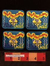 LOT OF 4 Boy/Cub Scout BSA PATCH ❖ HAPPY BIRTHDAY PARTY BALLOONS BLUE & GOLD 59E