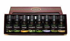 100% Pure Essential Oil Set of 8 Scents 10ml Therapeutic Grade Bottle Combo Set