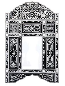 Decorative mirror Black & Gray framed mirror leaning floor Antique Mirror, hand