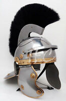 Roman Imperial Centurion Historical Helmet Medieval Steel Armor With Black Plume