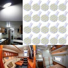 20X Super Bright 4.8W 12V T10 921 6000k White RV Interior 24SMD LED Light Bulbs