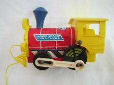 Vintage Fisher Price TOOT TOOT TRAIN #643 Wood & Plastic Pull Toy 1964