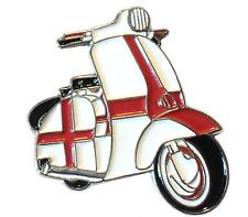England Flag St George Covered Scooter MOD Metal Scooterist Bike Enamel Badge