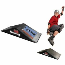Rampage Double Mini Ramp Skateboard Scooter Sports Ride BMX Launch Ramp Outdoor