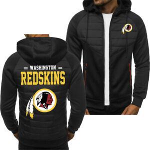 Washington Redskins Hoodie Classic Autumn Hooded Sweatshirt Jacket Coat Top Tops