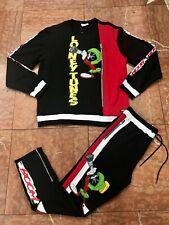 Men's Black | Red Looney Tunes Marvin The Martian Crewneck Sweatsuit