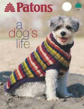 Knit Dog Sweaters & Blanket Patterns Patons A DOG'S LIFE Leaflet DD 939 Knitting