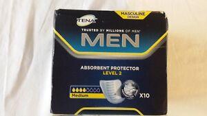 Tena for Men - Medium Level 2  - 10 Incontinence Pads