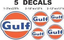 5 Gulf Gasoline Vinyl Decals
