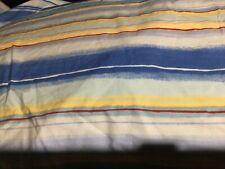 Pottery Barn Beachy Striped EURO Pillow Shams (2) Blue//Yellow 100% Cotton,EUC