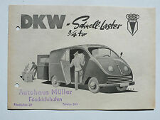 Prospetto DKW rapidamente-camion 3/4 to, 1949-52, 4 pagine, DIN a5