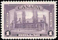 1938 Mint H Canada F-VF Scott #245 $1.00 Pictorial Issue Stamp