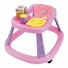 Casdon TOY Baby Huggles Walker Diner Feeding Chair With Food Bowl & Cutlery NEW