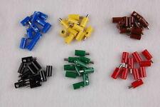 (Stck 23,25 ct) 60 Stecker/Muffen rund 2,6mm -  sortiert    NEU