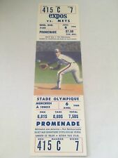 Pascual Perez Win #44 April 6 1988 4/6/88 Expos New York Mets Full Ticket