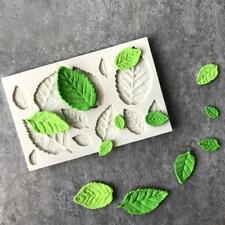 Silicone Rose Leaves Embellisment Fondant Mould Cake Decor Sugar Chocolate Mold