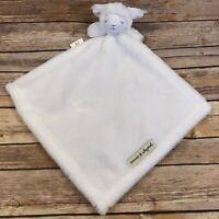 Blankets & Beyond White Lamb Sheep Baby Security Blanket NuNu Lovey Gray