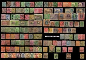 BRITISH INDIA-PRE (1947) INDEPENDENCE-135 All Different Used Stamps-Commonwealth