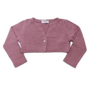 8365AD cardigan bimba girl MONNALISA light burgundy sweater kids