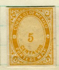 MEXICO; 1879 classic Imperf Official Service issue Mint unused 5c. value