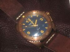 ZORETTO MONTRE DE PLONGEE BOITIER BRONZE Indy blue dial 45 mm