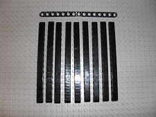 LEGO Technic - 10x Lochbalken Lochstange Liftarm beam 1x15 schwarz / black 32278