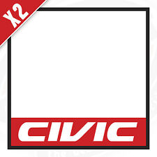 HONDA CIVIC Pair of rally / track car door decals stickers 400 x 400mm