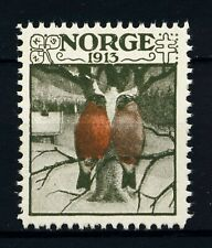 NORWAY . 1913 Christmas Seal (NKS 8) Birds on Branch - Mint Never Hinged