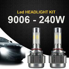 2x 9006 240W LED Headlight 24000LM Car White Beam 6000K Fog Bulbs Kit 4 Sides H2