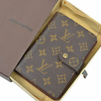 Auth LOUIS VUITTON Monogram Porte Papier Zippe Bifold Wallet Brown M61207 52195a