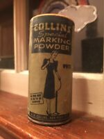 Vintage 1/2 Can - Collins Special Marking White Powder New York City