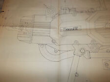"1979  Benelli  50 cc  ""C50"" 1:1 scale engine Blueprint"