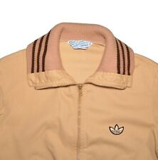 ADIDAS VINTAGE Track Jacket Womens Size Small Tan Brown Retro 70s / 80s