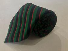 Lands' End Men's Green Stripe Silk Neck Tie $78
