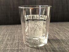 Rare Pre-Prohibition Shot Glass Driving Club Whiskey L.Khan & Co. Cleveland Vtg