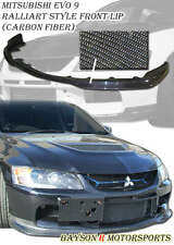 Ral-Style Front Lip (Carbon) Fits 06-07 Mitsubishi EVO 9 [EVO BUMPER ONLY]