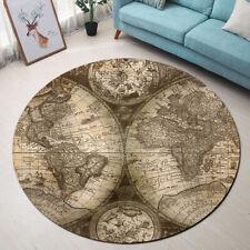 World Map Area Rug Floor Mat Carpet Historic Old Atlas Home Decor Yoga Mat Rug