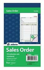 "Adams Sales Order Book, 3-Part, Carbonless, 4-3/16"" X Assorted NumberOfItemss"
