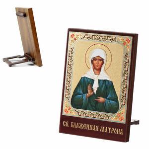 Ikone Matrona von Moskau Holz 8x6 икона Матрона Московская 1356
