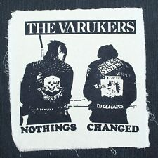 The Varukers Back Patch Band Hardcore Punk Rock D-Beat Sew On Extra Large