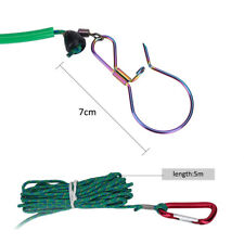 5M 5 Locks Stainless Steel Chain fishing Stringer Holder Carabiner Sea Fishing