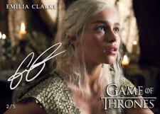 Emilia Clarke Targaryen *ANDALS.v2 Auto1 Khaleesi Game of Thrones Promo Card 4/5