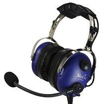 SkyLite Children Youth MP3 GA Aviation Pilot Headset SL-900MC with Bag ~ Blue