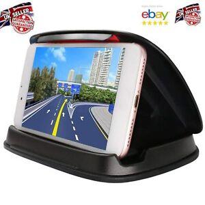 Deegotech Car Phone Holder, Car Phone Cradle - Black Mobile Dash Stand fits GPS