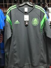 Adidas Mexico Training Sweeth Shirt 2014 Grey Green Size L Men's Only