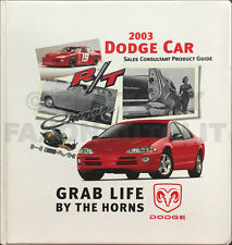 2003 Dodge Car Sales Guide Dealer Album Viper Neon Stratus Intrepid Caravan Data