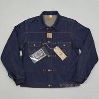 BOB DONG Repro 11MJ Pleated 1940s Western Selvage Denim Jacket Vintage Jean Coat