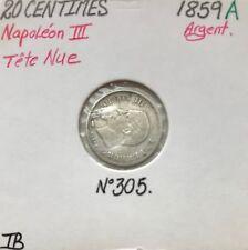 20 CENTIMES NAPOLEON III - 1859A - Pièce de monnaie en Argent // TB