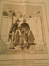 Caricature 1882 - Je crois bien qu'il y aq uelqu'un derrière la porte